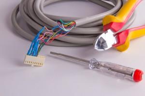 Intérieur d'un câble électrique
