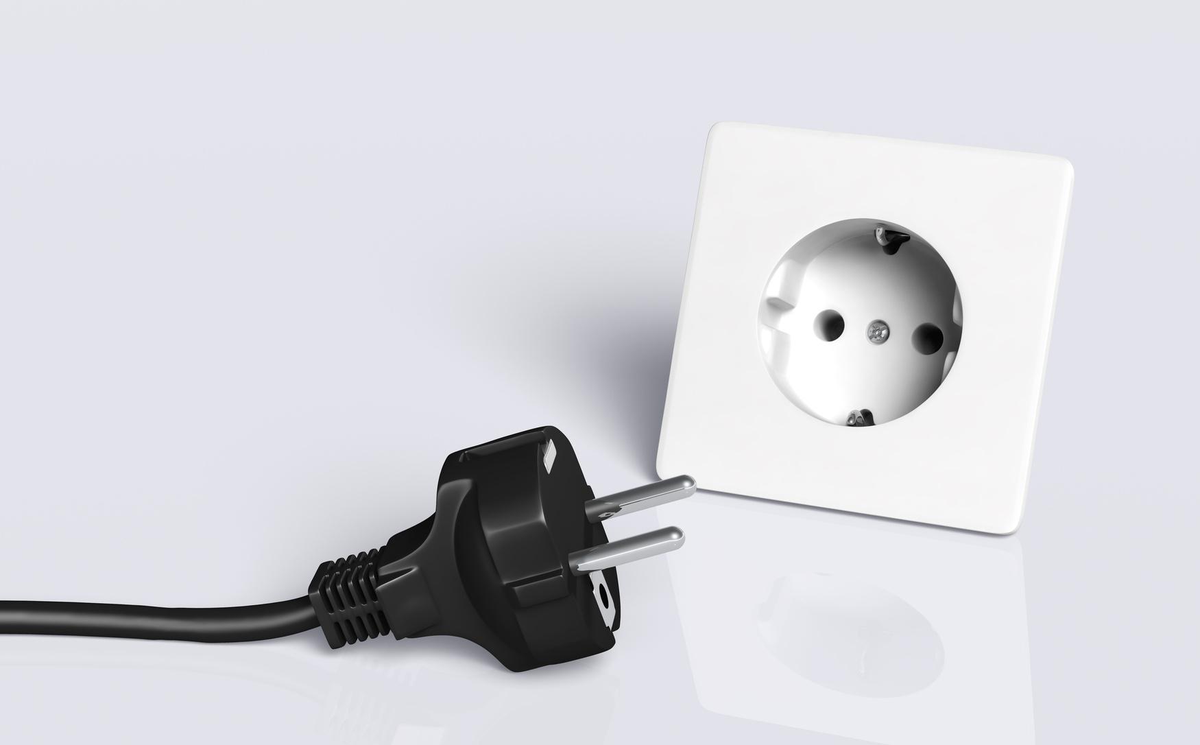 Prise électrique non branchée