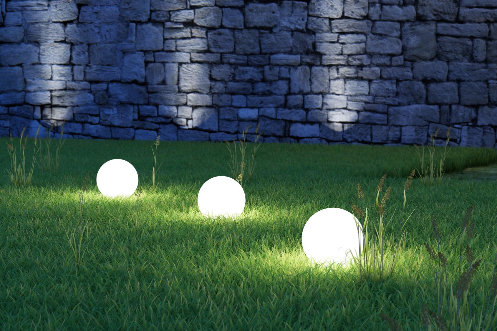 eclairage dans le jardin dune maison - Eclairage Jardin