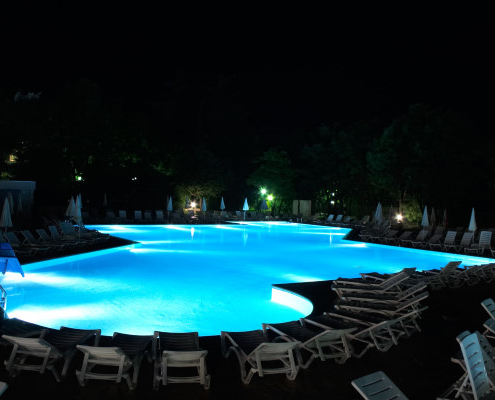 Coût d'un éclairage de piscine